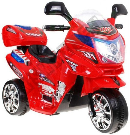 Super Kids motorcycles battery red