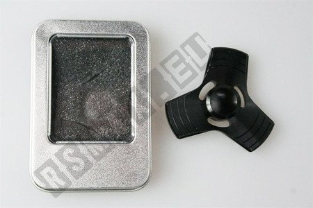 Oryginalny super FIDGET SPINNER aluminiowy czarny