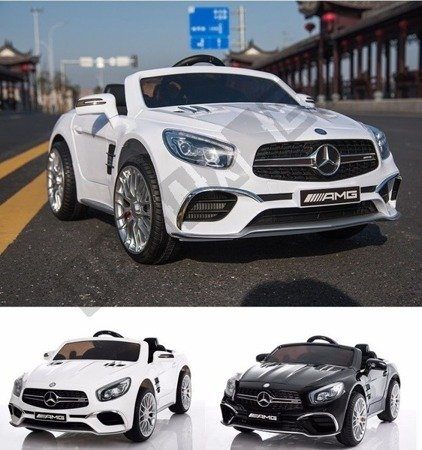 Mercedes-Benz SL65 AMG Coupe white battery