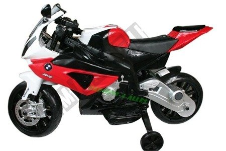 Motor on BMW S1000RR License Red