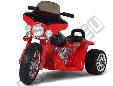 Super motor tricycle on battery Red
