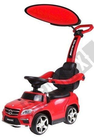 Vehicle pusher Mercedes GL63  with a sun visor red