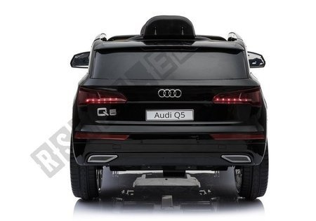Audi Q5 Black - Electric Ride On Car - Rubber Wheels Leather Seats 2,4G Remote