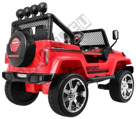 Auto battery Jeep 4 x 4 OFF ROAD Red