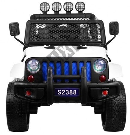 Auto battery Jeep 4 x 4 OFF ROAD white