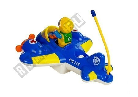 Baby R/C Airplane with Remote Control Steering Wheel Blue