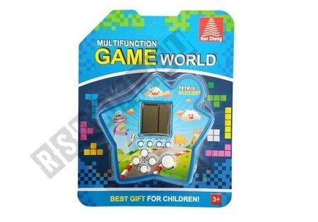 Brick Game Electronic Tetris Portable Star Blue