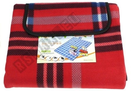 Checkered Picnic Blanket 150x250 Red-Blue