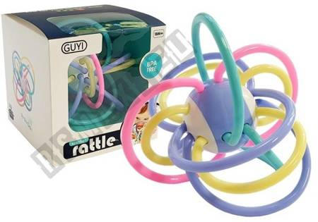 Colorful Rattle Teether for a Baby