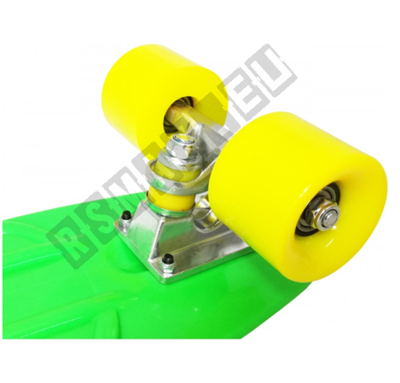Cruiser Skateboard Vinyl Green and Yellow