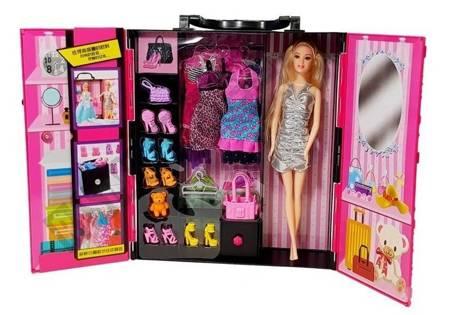 Doll Wardrobe Suitcase Pink