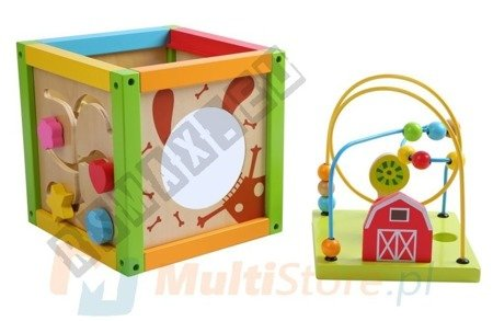 Educational children's wooden cube 5 in 1 ECOTOYS