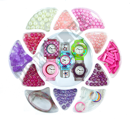 Girls Creative Kit 240 pcs Watches And Beads