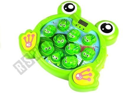 Glowing Frogs with a Hammer Arcade Game