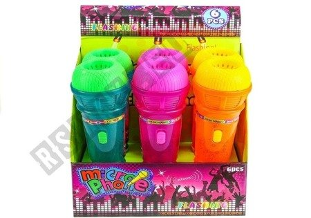 Kids Childrens Roleplay Toy Microphone With Light Effects 25cm