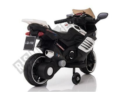 LQ158 Electric Ride On Motorcycle - White