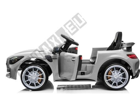 Mercedes GTR Electric Ride On Car - Silver Painting