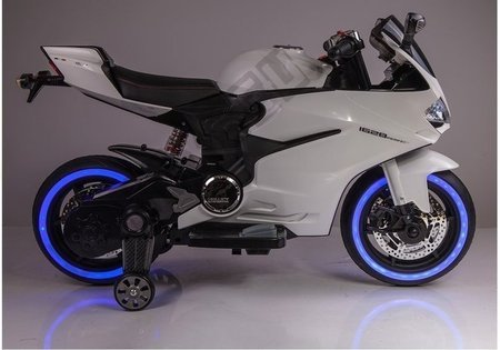 Motorcycle SX1628 Electric Ride On Car - White