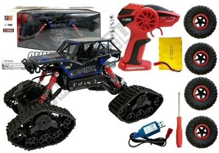 Offroad R/C Car 4x4 Black with Blue Pattern