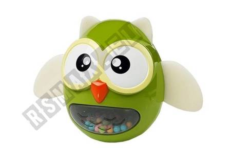 Owl Rattle Teether Children's Toy Green