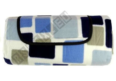 Picnic Blanket 150x200 Blue-White Square Pattern