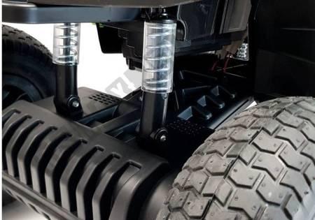Quad BDM0906 Electric Ride On Vehicle Pumped Wheels - Black