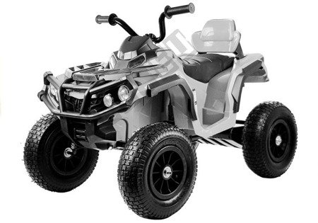 Quad BDM0906 Electric Ride On Vehicle Pumped Wheels - White