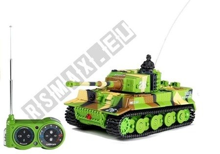 R/C Tank with Radio Control 27MHz 1:72 Military