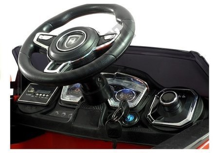 Ride on Car HL1618 Red Lights EVA-Wheels 2.4G leather seats FM USB SD