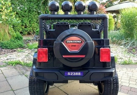S2388 Off Road Jeep Black - Electric Ride On Car