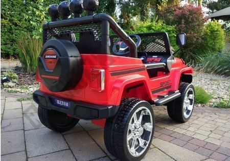 S2388 Off Road Jeep Red - Electric Ride On Car