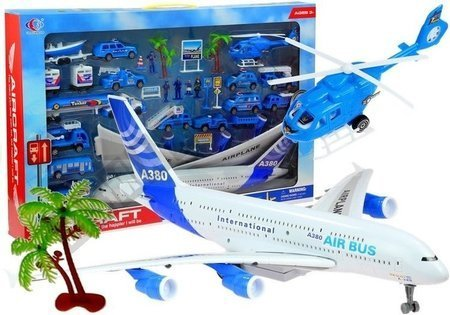 Set Airport Aircraft Helicopter 30 PCS.