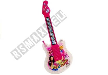 Set of Children's Guitar with a microphone and glasses Pink
