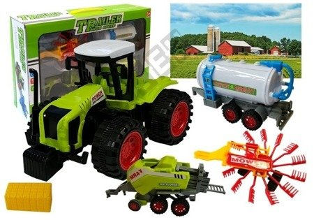 Set of Vehicle Farmer Tractor