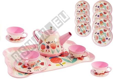 Tea Set Cups Teapot 14 elements