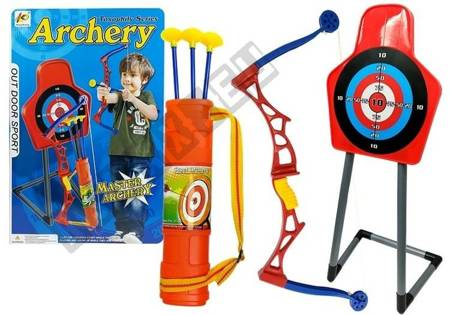 Toy Sports Bow on a Stand with a Target and a Quiver