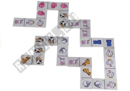Wooden Dominoes with Animals Game For Children