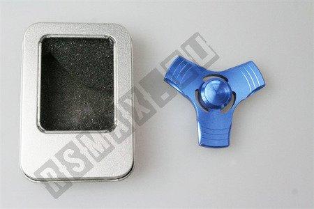 Alu Original Hand Spinner Fidget Finger ADHS Anti Stress Spielzeug blue