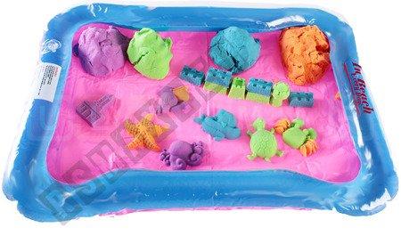 Aufblasbarer Sandkasten, Sand kinetisch 2 kg Kinetischer Sand magischer