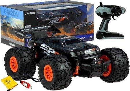 Auto Monster Truck Ferngesteuertes Auto 15km/h 2,4G 2-Rad-Antrieb Set Schwarz