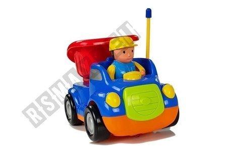 Auto wywrotka z kierownicą niebieska