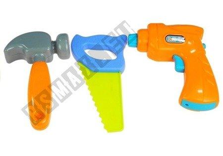 Autos Set Kipper Bagger 2 Figürchen Hammer Säge Schraubenzieher Bohrmaschine