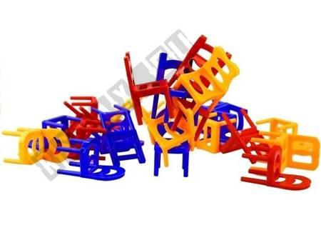 BALANCING CHAIRS Stühle Turm Spiel Geschicklichkeitsspiel Spiel für Kinder 3+