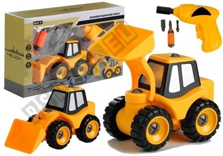 Bagger + Bohrmaschine Schraubenzieher Montage Set Fahrzeug