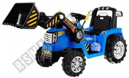 Das Fahrzeug auf der Batterie des Baggertraktors!