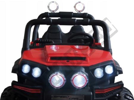 Doppelauto für eine rote 4x45W Buggy-Batterie