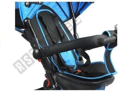 Dreirad PRO500 Blau große Gummiräder Sonnendach Sicherheitsgurte