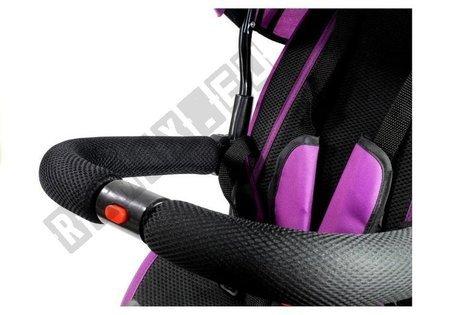 Dreirad PRO500 Violett Sonnendach Gummiräder
