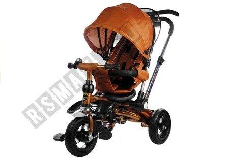 Dreirad PRO700 Cappuccino 3-Punkt-Sicherheitsgurte Sonnenschutzdach