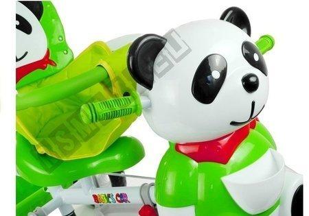 Dreirad Panda Grün Stahlrahmen Sonnendach Dreirad für Kinder Panda Grün